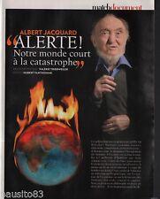 Coupure de presse Clipping 2009 Albert Jacquard  (3 pages)