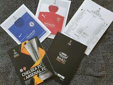 Europa League Final Arsenal vs Chelsea LIMITED Official Programme + TEAMSHEET!!