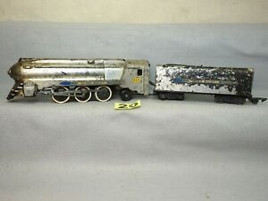 GREAT RUNNING UGLY CHROME AMERICAN FLYER #356 SILVER BULLET STEAM LOCOMOTIVE