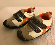 Carters Baby Boy Shoes ~ Brown, Orange, Tan.  Size 2 ~ Velcro Soft Sole