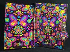 Lisa Frank Dream Writers Tri-fold Organizer Butterflies Diary GeL Pen Notebook