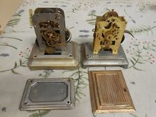 Pair of antique alarm clock movements. Seth Thomas USA and one other.