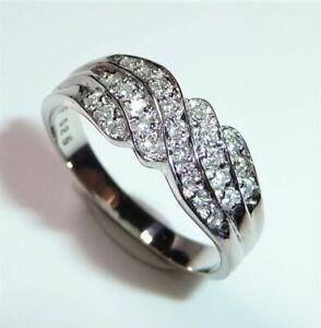 950 Platinum - Ring - 0.25 CT Diamonds - Size 55-55, 5/17,5 -17, 65 MM 4,8 Gram