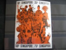 Singapore: 1973 Entertainers Set in block of 4 MNH