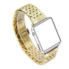 Womens Apple Watch Band Crystal Rhinestone Diamond Luxury Bracelet 38mm Gold New