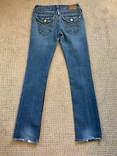 Women's True Religion Size 27 Distressed Jeans Authentic RN#112790 Boot Straight
