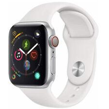 Reloj de Apple serie 5 40mm Gps Celular LTE de Aluminio Plata Caso Blanco Sport banda