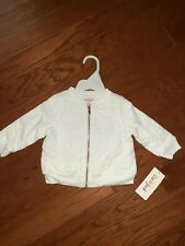 Cat And Jack Baby Girl White Jacket Size 6/9 Months
