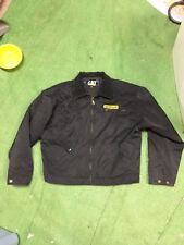 vintage Caterpillar CAT jacket black size Adult M Medium farming agriculture