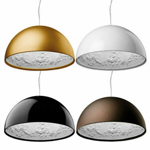 4 Colors Hotel Skygarden Pendant Lamp Semicircle Simple Chandelier Hanging Light