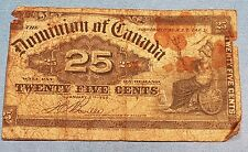 1900 Dominion of Canada 25 Cent Bank Note   ID #95-14