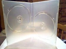 6x 14mm Clear dvd DOUBLE Case's for 2 Discs with clear cover pocket sleeve NEW