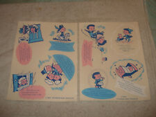 Vintage 1959 Peterson baby products nursery decals