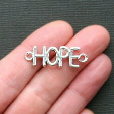 20pcs Hope charms silver tone Rectangle Hope Charm pendants Connector 6x28mm