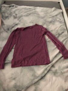 Youth 32 Degrees Heat Burgandy Long Sleeve Shirt Size L
