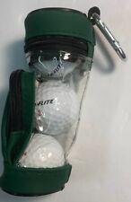 Top Flight 2 Xl Golf Balls/Tees Gift Pack Holder Hook Onto Golf Bag New Cute!