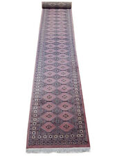 2.5 x 18 Upscale Jaldar Runner Pink 559 x 79 cm Woven Mission Style Runner