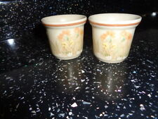 MARKS AND SPENCER FIELD FLOWERS EGG CUPS X 2