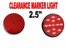 "Maxxima 2-1/2"" Round Clearance Side Marker light 13 LED Red LED w/ Red  Lens"