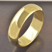 Classic 9k gold filled mens Smooth band ring,size 8,F2887