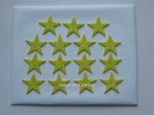 15 X EDIBLE YELLOW GLITTER STARS. CAKE DECORATIONS - MEDIUM 3cm