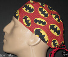 BATMAN SIGNAL ON RED BRICK WALL SCRUB HAT / FREE CUSTOM SIZING!