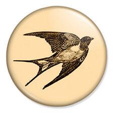 "Swallow Bird 25mm 1"" Pin Badge Old Vintage Kitsch Retro"
