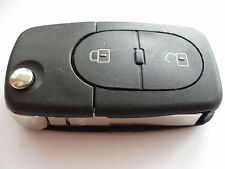 Replacement 2 button flip key case for VW mk4 Golf Bora Passat remote fob