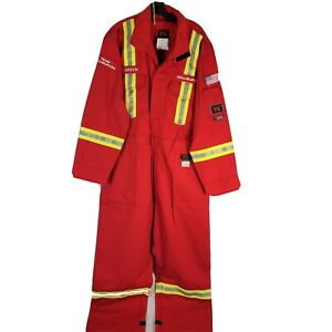 Actionwear FR Flame Resistant Antiflame Coverall Overalls Red Mens Size 52 XXL