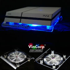 USB Design Holder Blue Playstation 3/4 PS4 Ps3 Slim Cooling Fan Stand Stand Pad