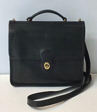 Vintage Coach Black Leather Willis Crossbody Bag Purse No. 9927