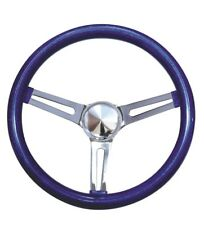 "Mooneyes Blue Metalflake Slotted Steering Wheel 15"" Hot Rod Rat VTG GS270CMBL"