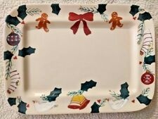 Hartstone Pottery GINGERBREAD Christmas Traditions Cookie Tray Platter Retired