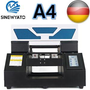 SINEWYATO A4 UV Drucker Flachbett Rundschilder Glas Metall 3D Rotation Geprägt
