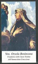 estampa de la Venerable Orsola santino holy card image pieuse
