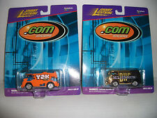 JOHNNY LIGHTNING ~Y2K BUS ~ And ~THE MILLENNIUM BUS 1:64 .COM RACERS (free ship)