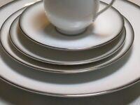 49 Piece China Set Sango China White/Grey Mist 6175   SERVICE For 8