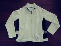2004 Stone Island Men's Full Zip Long Sleeve Cable Knit Cardigan Sweater Ivory L