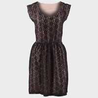 NEW LADIES BLACK DRESS LACE OVERLAY DOROTHY PERKINS SIZE 6 8 14