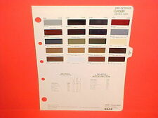 1985 LINCOLN CONTINENTAL GIVENCHY MARK VII LSC TOWN CAR SIGNATURE PAINT CHIPS 85