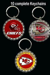Kansas City chiefs keychain key rings  favors 10 loot bag birthday superbowl