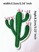 DIY Sewing cactus On Patch Stickers Badge Embroidered Fabric Applique clothing