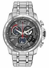 Citizen Eco-Drive Men's A-T Chronograph Alarm Grey Dial 44mm Watch By0100-51H