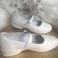 PROPET Womens White Leather Mary Janes Diabetic Orthopedic Nurse Shoes W2019 9M