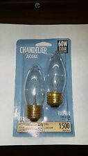 Lot of 12 Abco 60W 60 Watt Clear Light Bulb Torpedo Regular Base Chandelier Bulb