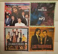 4 DISCOS DE GRUPOS ROMANTICOS EN ESPAÑOL. FORMATO MP3. 370 CANCIONES