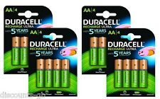 16 x Duracell AA 2500 mAh Ultra Rechargeable Batteries - 16 Pack Replaces 2400