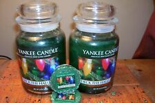 yankee candle 2-22oz JARS DECK THE HALLS + 2 TARTS