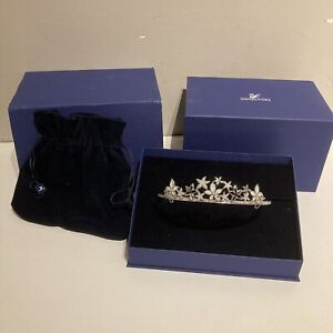 Genuine Swarovski Crystal Wedding Tiara with Original Presentation Box & Pouch.