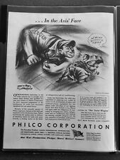 Hitler, Mussolini, Tojo Overpowered by U.S. War Production   WWII Ad